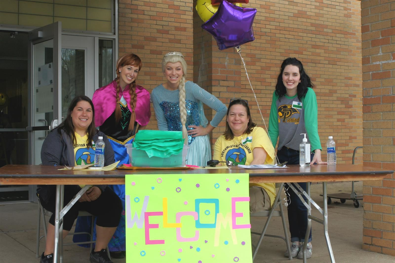 Special needs expo welcome desk.