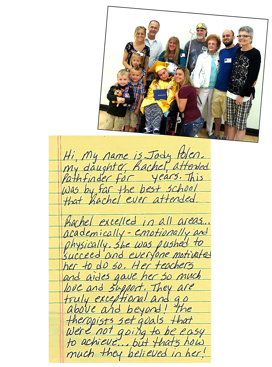 A testimonial from a Pathfinder student's parent.